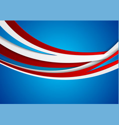 red blue and white abstract corporate wavy vector image