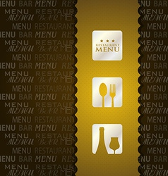 restaurant menu presentation in brown background vector image
