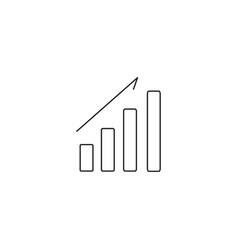 rising bar chart icon vector image