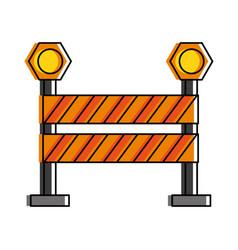 Roadblock road sign icon image vector
