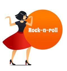 rock-n-roll dancer in cartoon style vector image