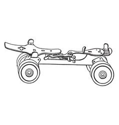 roller skate vintage vector image