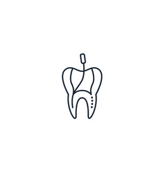 Root canal creative icon from dental icons vector