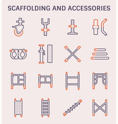 scaffolding accessory icon vector image