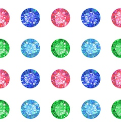 Seamless texture of colored gems vector