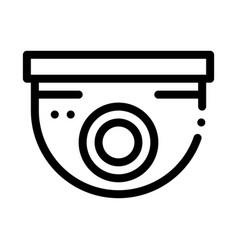Security surveillance camera icon outline vector