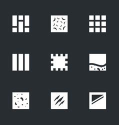 set flooring icons vector image