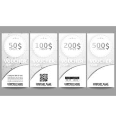 Set of modern gift voucher templates Molecular vector image