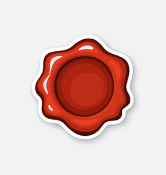 sticker red wax seal vector image