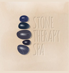 Stone therapy spa logo vector