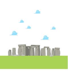 Stonehenge in flat style vector