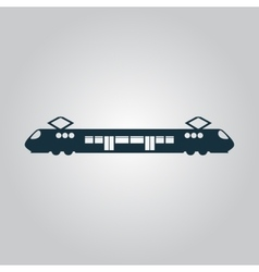 Suburban electric train vector