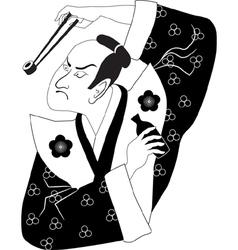 Sushi samurai vector