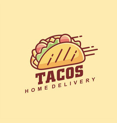 tacos line art graphic vector image