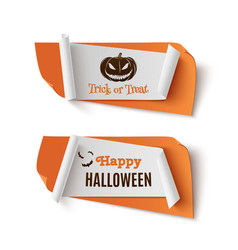two orange halloween treat or trick abstract vector image vector image