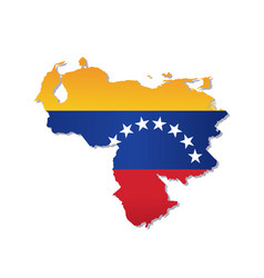 Venezuela flag amp map vector