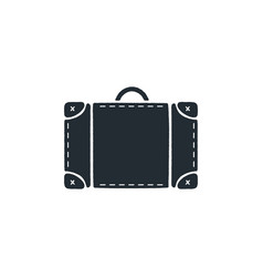 vintage hand drawn travel bag silhouette design vector image