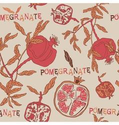 Vintage Pomegranate Pattern Background vector
