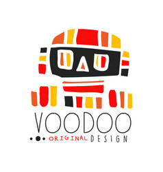 Voodoo african and american magic logo with vector