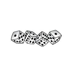White dice risk taker gamble art vector