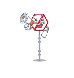 with megaphone no overtaking isolated with the vector image