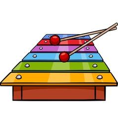 Xylophone clip art cartoon vector