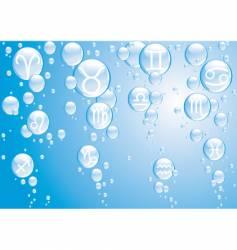 zodiac bubbles blue vector image