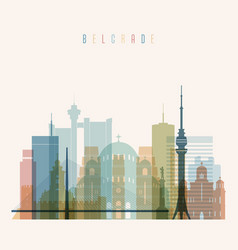 Belgrade skyline detailed silhouette vector