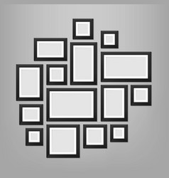 creative of wall picture vector image