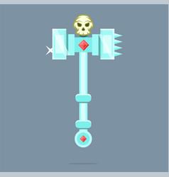 fantasy weapon battle hammer war hammer vector image