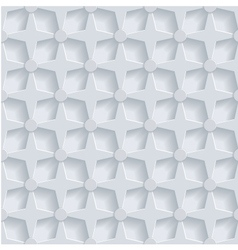 Geometric 3d seamless pattern background vector