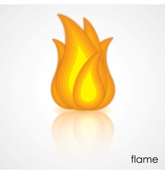 icon of flame vector image
