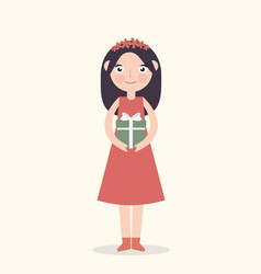 woman with a girl flat vector image