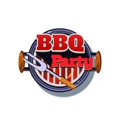 BBQ Sticker vector image