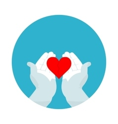 flat icon broken heart vector image