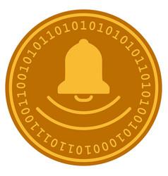 Bell digital coin vector