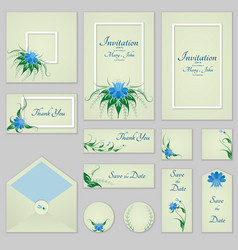 collection greeting cards with stylized bells and vector image vector image