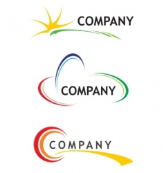 corporate logo templates vector image vector image