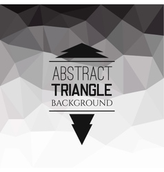 Abstract grey triangle pattern vector image