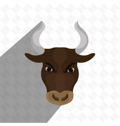 bull head design vector image vector image