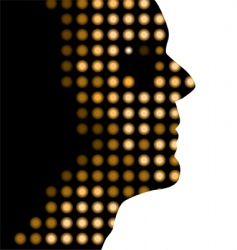 dot face vector image vector image
