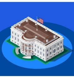 Election Infographic White House Isometric vector image