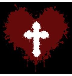 Faith in the heart vector image