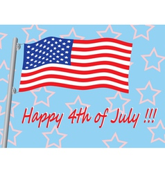 Happy 4th of July vector image