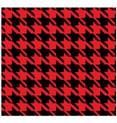 Houndstooth Pattern Red vector image