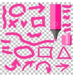 Marker Line Element Set Flat Design vector image