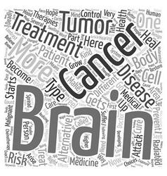 Prevent brain cancer alternative treatment text vector image vector image