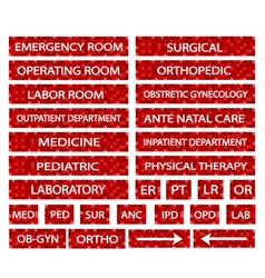 A Set of Hospital Sign and Medical Abbreviations vector image