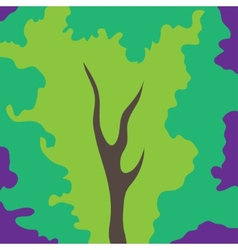 Abstract art tree green color vector image