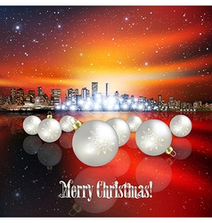 Abstract Christmas with white decorations and vector image
